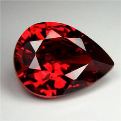 .8ct Blazingly Gorgeous Red Pear Garnet Gem 8x5mm (GMR-0171)