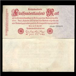 1923 Germany 500000 Mark Note Hi Grade Rare (CUR-05671)