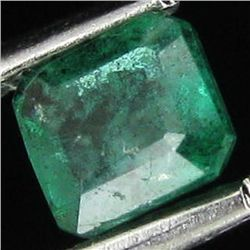 .44ct Octagon Emerald Deep Green Colombia (GEM-13624)