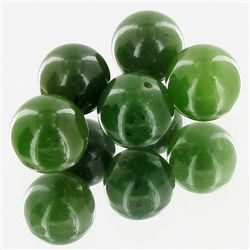 25.1ct Jade Round Beads Parcel (GEM-34740)