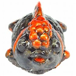 420ct. Gold Fish Statue Statue Blk Star Sapphire (GEM-9746)
