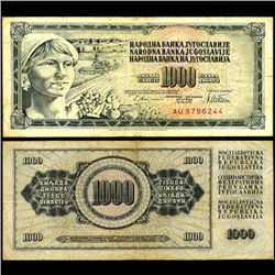 1978 Yugoslavia 1000 Dinara Circulated Note (CUR-06677)