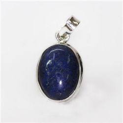 Natural 20.21 ct Lapisoval Pendant .925 Sterling Silver
