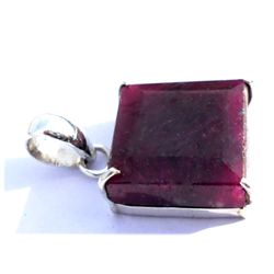 Natural 22.95 ctw Ruby .925 Sterling Pendant