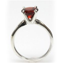 Natural 2ctw Garnet .925 Sterling Silver Ring