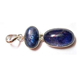 Natural 7.36 g Tanzanite Oval .925 Sterling Pendant