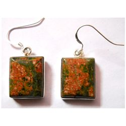 Natural 10.7 g Semi Precious .925 Sterling Earrings