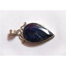 Natural 22.75 ctw Sapphire Pendant .925 Sterling