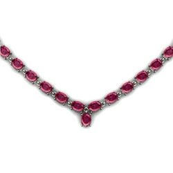 NATURAL 24.00 CTW PINKTOURMALINE NECKLACE .925 STERLING