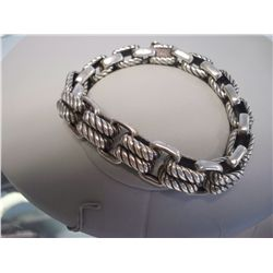 Mens Sterling Silver Bracelet, 85.2 Grams