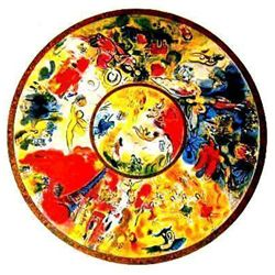 Lithograph of Marc Chagall's magnificent  Paris Opera Ceiling