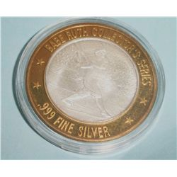 .999 PURE SILVER CENTER BABE RUTH COLLECTORS SERIES