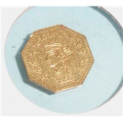 1855 CALIFORNIA GOLD 1/2 COIN