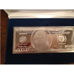 .999 SILVER 4 TROY OZ  $100 BAR