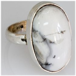 Natural 38.68 ctw Semi Precious .925 Sterling Ring