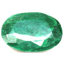 African Emerald Loose Gems 35.37ctw Oval Cut