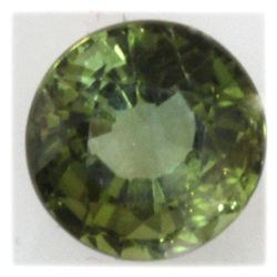 Natural 1.11ctw Green Tourmaline 6mm Round Stone