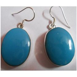 Natural 11.77g Froza Oval .925 Sterling Silver Earrings