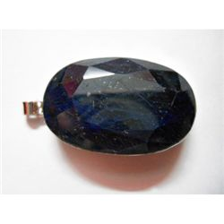 Natural 227.20 CTW. Sapphire Oval Pendant .925 Sterling