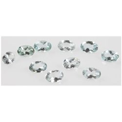 Natural 4.54ctw Aquamarine Oval 4x6 (10) Stone