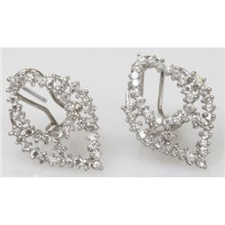 Natural 3.76g CZ Earrings .925 Sterling Silver