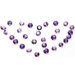 Natural 12.42ctw Amethyst Round Stone 4.5 to 8 (29)