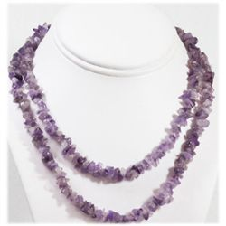 Natural Amethyst Unut Beads Necklace
