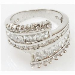 Natural 5.97g CZ Ring .925 Sterling Silver