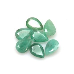 Natural 32.85ctw Emerald Pear Shape (10) Stone