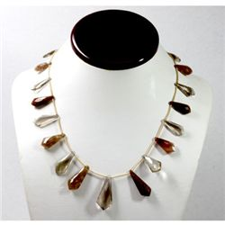 134.76 ctw Natural Smokie Quartz Bead Necklace