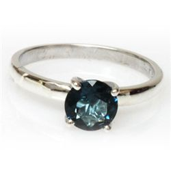 Natural 1ctw London Blue Topaz .925 Sterling Ring