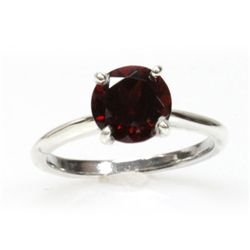 Natural 2.25ctw Garnet .925 Sterling Silver Ring