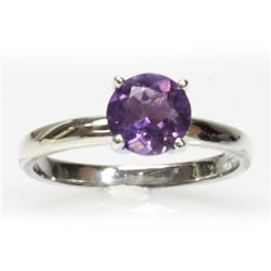Natural 2ctw Amethtyst .925 Sterling Silver Ring