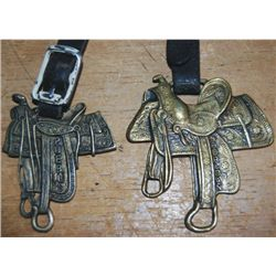 2 saddle watch fobs