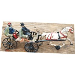 Cast iron horse drawn carriage toy