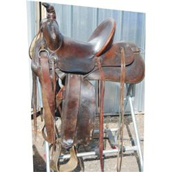 1912 Hamley high back saddle
