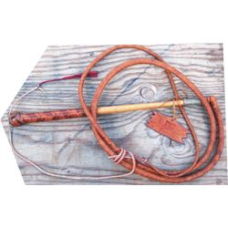 signed Jessop braided bull whip