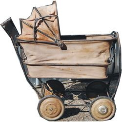extremely rare US baby buggy, may have been a special order for an officer