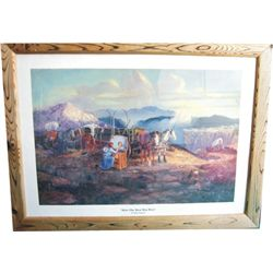 signed Bill Chappell print, How the West Was Won