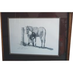 signed Leslie Engelhart pencil art