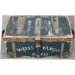 decorator Wells Fargo & Co wooden trunk