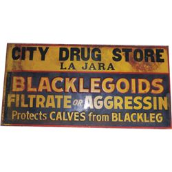 old enamel City Drug Store sign
