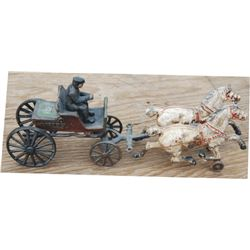 nice cast iron carriage toy