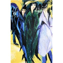 Ernst Ludwig Kirchner - Women In The Street - Limited Edition on Paper