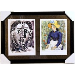Pablo Picasso and Vincent Van Gogh -Lithographs Set