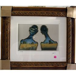 Salvador Dali Signed Limited Edition - A Couple With Heads In The Clouds