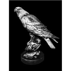 Original Fine Silver Sculpture - Spirit of American (small) by D. Scott