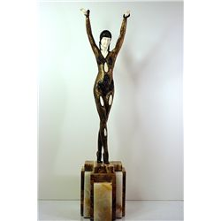 Dourga - Bronze and Ivory Sculpture by Chiparus