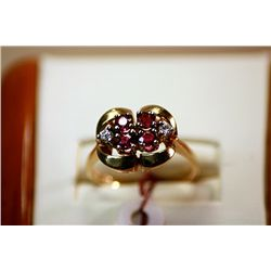#39 - Fancy Ladys 14K Ruby and Diamond Ring