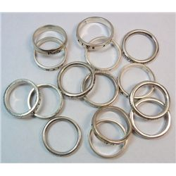 Lot Sterling Silver Chastity Rings